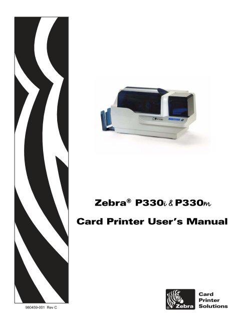 Card Printer User S Manual Zebraa P330i P330m Altec