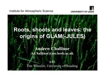 Roots, shoots and leaves: the origins of GLAM(-JULES)