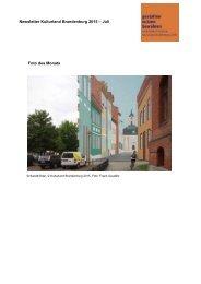 Newsletter Kulturland Brandenburg 2015 – Juli