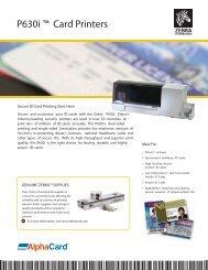 Zebra ZXP Series 3 Card Printer User Manual - alphacard com