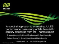 A spectral approach to assessing JULES performance: case study of ...