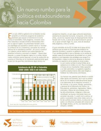Un nuevo rumbo para la política estadounidense hacia Colombia