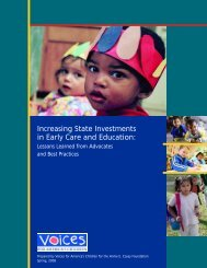 Increasing State Investments in Early Care and Education:
