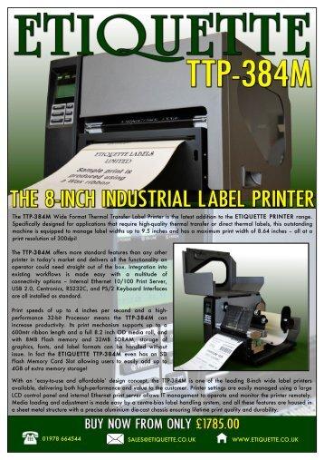 download the etiquette ttp-384m label printer product brochure