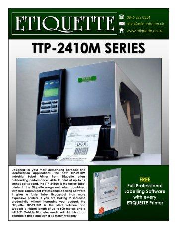 Download the Etiquette TTP-2410M Label Printer Product Brochure