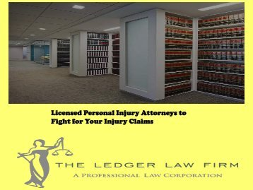 Licensed Personal Injury Attorneys to Fight for Your Injury Claims