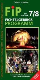 Fichtelgebirgs-Programm - Juli/August 2015