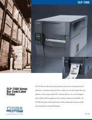 CLP-7200 Series Bar Code/Label Printer - Digi-Trax