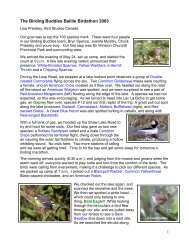 2003 - Beaverhill Bird Observatory