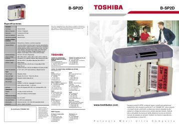 Impresora portátil B-SP2D Toshiba - Toshiba Tec