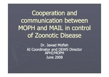 2.2 Cooperation between MOPH and MAIL - Animal Health ...