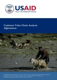Cashmere Value Chain Analysis Afghanistan - Afghan Agriculture