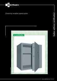 Safes without certification - SMP