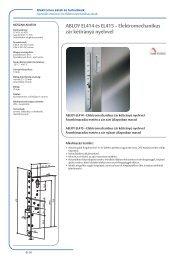 ABLOY EL414 és EL415 – Elektromechanikus zár kétirányú ... - SMP