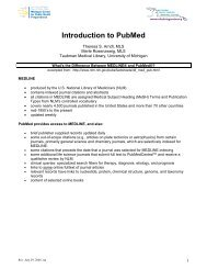 Introduction to PubMed - University of Michigan