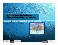Recreational Waterborne Disease Outbreaks in Florida