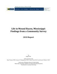 Life in Mound Bayou, Mississippi: Findings from a Community Survey