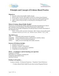 Principles and Concepts of Evidence-Based Practice