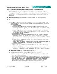 Anthrax Lab Protocol - Office of Public Health Practice