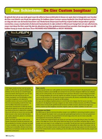 Degiergitaarbouw - De Gier Guitars & Basses