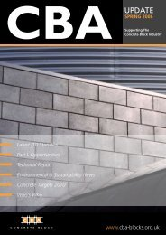cba spring 2006 - Concrete Block Association