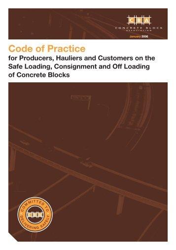 Code of Practice - Concrete Block Association