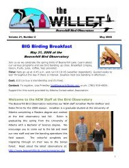 Volume 21, Number 2 - Beaverhill Bird Observatory