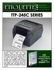 download the ttp-245c label printer brochure - Etiquette Labels Ltd