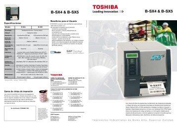 B-SX4 & B-SX5 B-SX4 & B-SX5 - Toshiba Tec