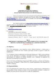 Novo texto da NR-15 está em consulta publica até o dia 31/12/2012.