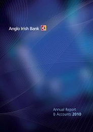 Annual Report 31 December 2010 - Anglo Irish Bank