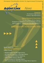 Issue 17 (April 2005) - AgentLink.org