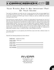 Rivera R100-212 User's Manual