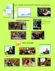 Highlights of the 2012 OAVT Conference and Trade Show OAVT's ...