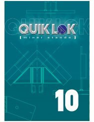 Quiklok Mixer Stand Catalogue 2009 - MusiCo
