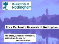 Rock Mechanics Research at Nottingham - Minerals Engineering ...