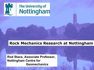 Rock Mechanics Research at Nottingham - Minerals Engineering ...