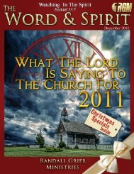 December 2010 Magazine - Randall Grier Ministries