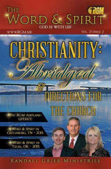 February-March 2013 Newsletter - Randall Grier Ministries