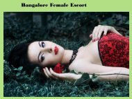Bangalore Female Escort