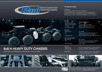8x8/4 HEAVY DUTY CHASSIS - Paul Nutzfahrzeuge