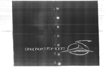 1966 B/W Brochure (PDF file 3401 kb) I also have ... - Shepherd Boats