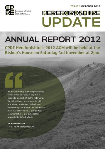 CPRE Herefordshire Annual Report October 2012