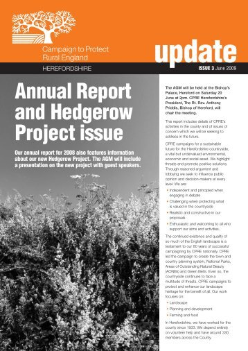 CPRE Herefordshire Annual Report June 2009