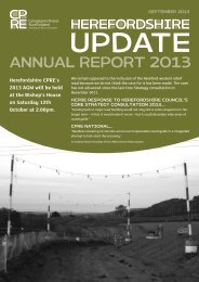 ANNUAL REPORT 2013 - CPRE Herefordshire