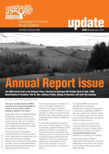 CPRE Herefordshire Annual Report September 2010