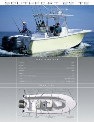 Southport 29 TE Specs - Smith Yacht Sales
