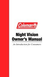 Night Vision Owner's Manual - Famous Trails