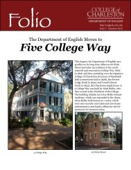 Folio - Department of English - College of Charleston