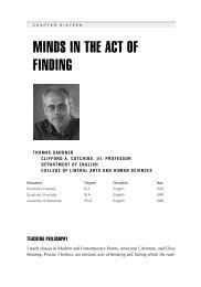 minds in the act of finding - Virginia Tech English Department Faculty